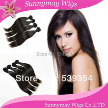 Fast shipping cheap grade 5a Indian Virgin Hair Extensions Unprocessed Straight hair weft in stock