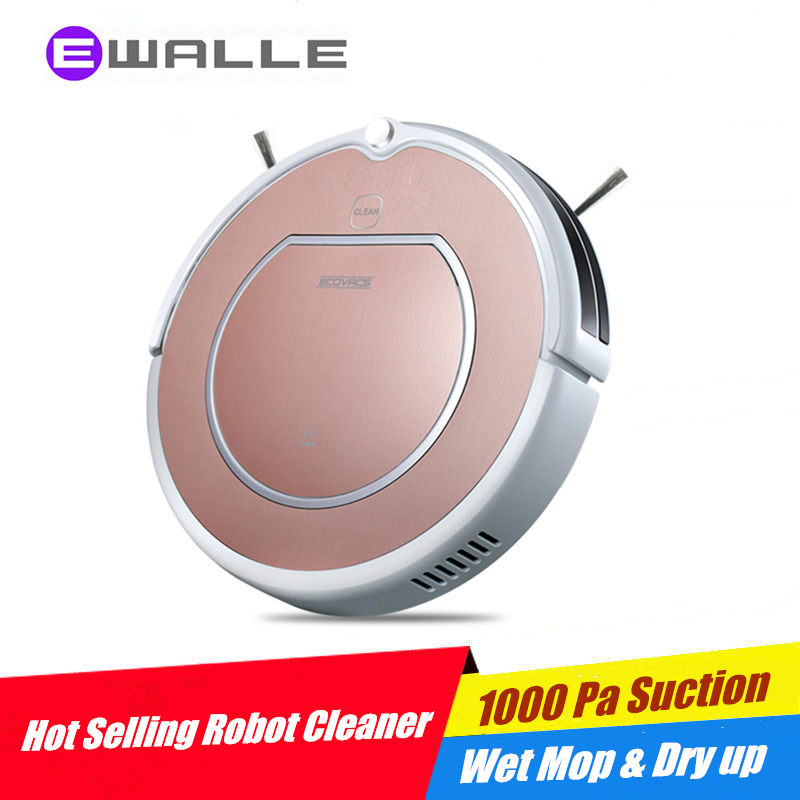 Robot Vacuum Cleaner ECOVACS DEEBOT Tacit CEN546 Sweep, Suction, Wet Cleaning and Dry Up, Remote Control, Self Charge ASPIRADOR(China (Mainland))