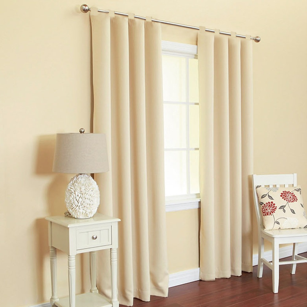 Window Curtain For Living Room Drawing Bedroom Modern Drapes Solid Loops Cortinas Cotton&Polyester 1PCS/Lot(China (Mainland))