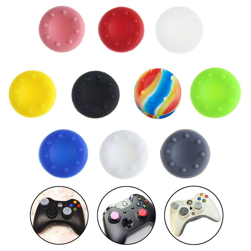 4 PCS Rubber Silicone Cap Thumbstick Thumb Stick X Cover Case Skin Joystick Grip Grips For PS4 PS3 PS2 XBOX 360 ONE Controller(China (Mainland))