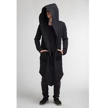Casaco Longo Casaco de Lã dos homens Com Capuz Ninja Goth Gothic Camisola Do Hoodie Do Punk 2018(China)