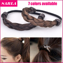 1pc Hair Ring Hair Rope Elastic Braided Tonytail Wrap Hairband Fastening Accessories Synthetic Headwear Ponytails Holder(China (Mainland))