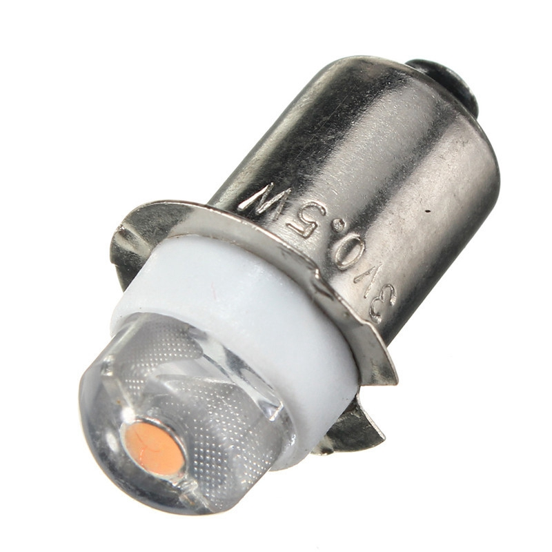 P13.5S PR2 0.5W LED For Focus Flashlight Replacement Bulb Torches Work Light Lamp 60-100Lumen Pure/Warm White DC 3V 4.5V 6V