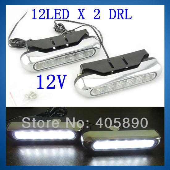 день 12LED x 2 drl автомобиля led день вождения авто вспомогательные лампа Светодиодные 12v