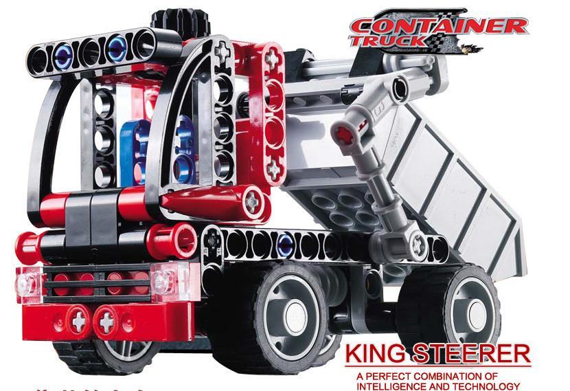2016 Decool 3345 Technic Transport Dump Container Truck Car Building Blocks Sets Model Bricks Kids Toys Gifts Compatible Legoe(China (Mainland))