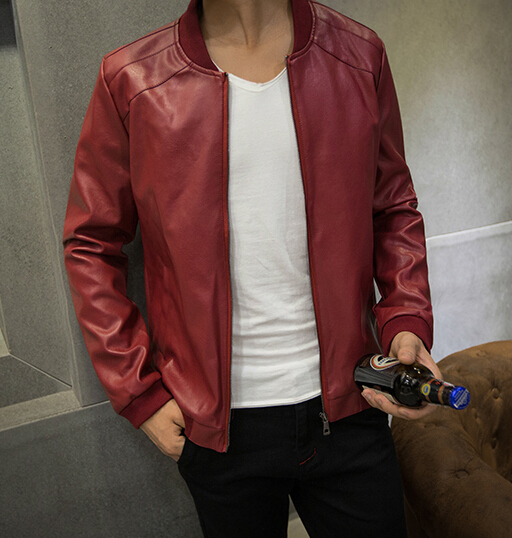 Images of Red Bomber Jacket Mens - Reikian