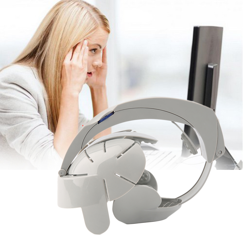 Electric Head Massager Acupoint Relax Brain Vibration Stress Release Machine Health Care Grey Color(China (Mainland))