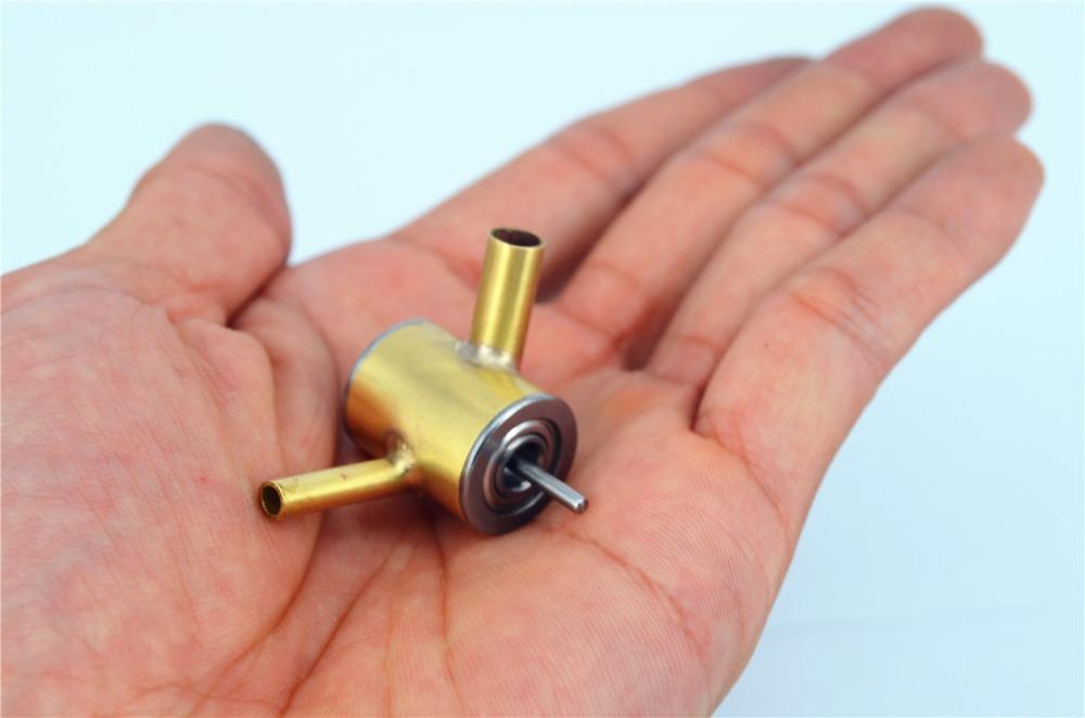Diy Brass Model High Speed Micro Turbine Steam Turbine(China (Mainland))