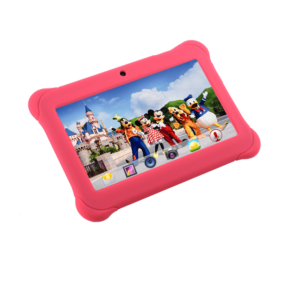 Alldaymall 7 Quad Core Android Kids Tablet Dual Camera 8GB HD Kids Edition w iWawa Pre