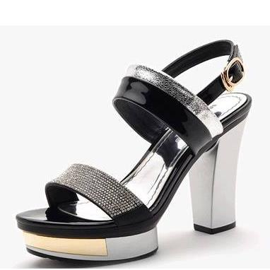 2016 new arrival women sandals high quality high heels shoes lady peep toe thick high heels sexy wedding shoes<br><br>Aliexpress