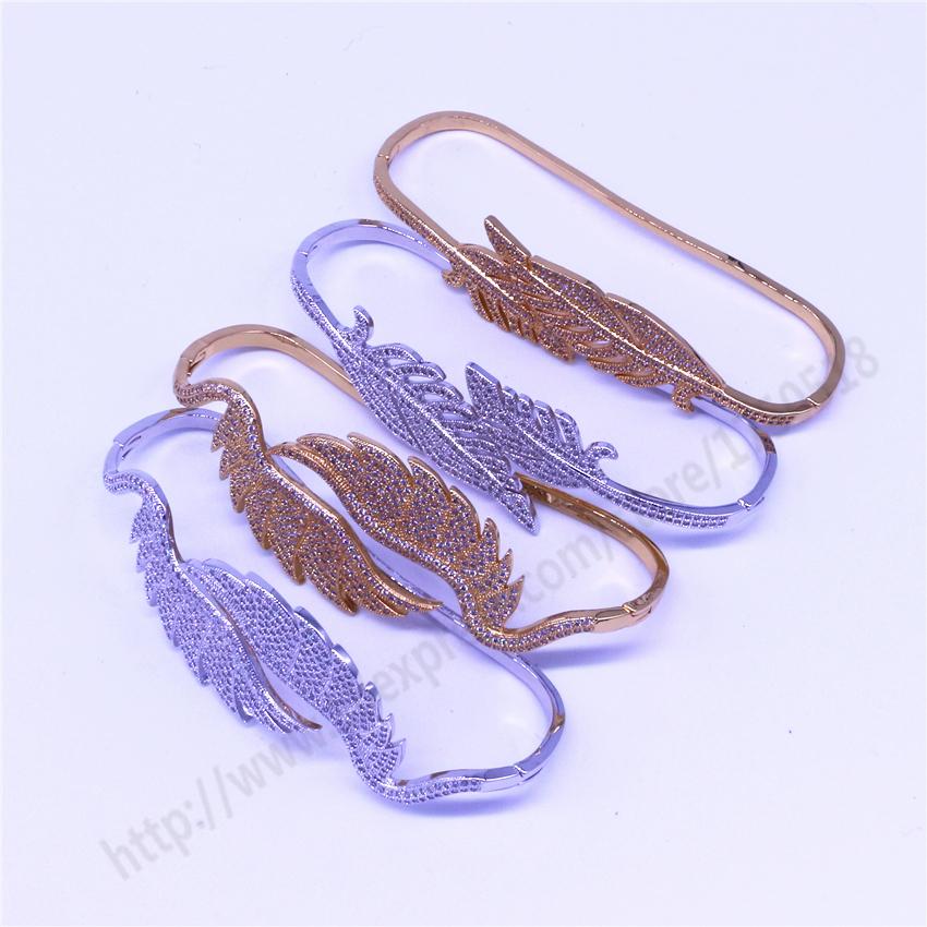 Здесь можно купить   design palm bang hand back bangle Wing / leaf shape handcraft  cz   Ювелирные изделия и часы