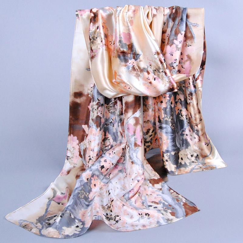 New women's accessories satin scarves fashion ladies' silk scarfs 2016 brand Chinese style pattern digital print female muffler(China (Mainland))