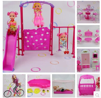 Hot Sale Baby Girl Gifts 1/ 6 Doll Furniture Plastic Mini Bathtub Doll House Accessories(China (Mainland))