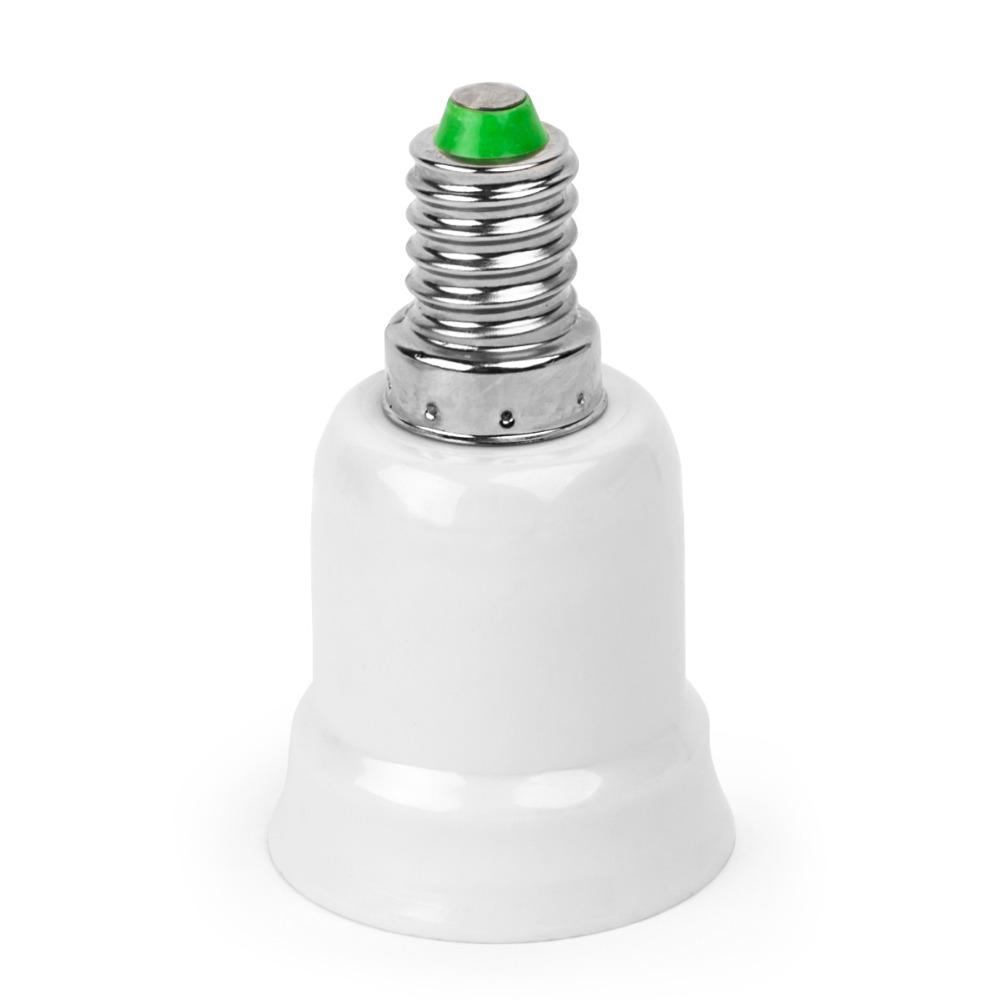 New 10pcs E14 Screw Socket to E27 Base Adapter Screw base converter Extend Base LED Light Bulb Lamp Adapter Converter(China (Mainland))