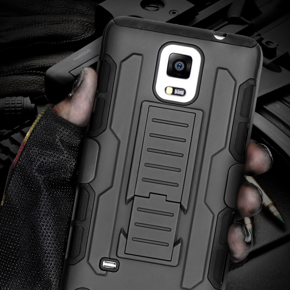 Black Hard Plastic Hybrid Military Armor Mobile Phone Case Samsung Galaxy Note 7 4 5 3 Belt Clip Back Cover - FlovemeOfficial Store store