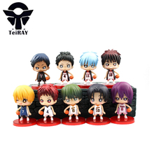 9pcs/set Japan Anime figurines Kuroko no basket pvc cartoon action figure toys doll brinquedos for children 2.8″ free shipping