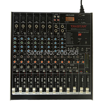New Takstar xr-612fx for Mixer Console 6 XLR and TRS balanced inputs TRS balanced stereo input interface XR-612FX MIXER USB