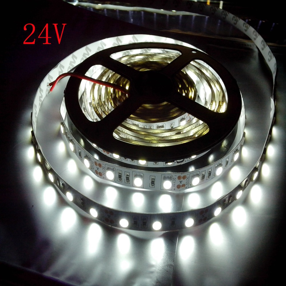 dc 24v 5m 300led 5050 smd strip white warm white rgb non waterproof led strip lights 60led m. Black Bedroom Furniture Sets. Home Design Ideas