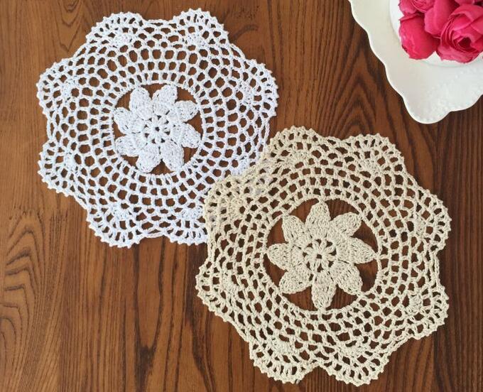 Napperon coton promotion achetez des napperon coton promotionnels sur alibaba group - Napperon dentelle crochet ...