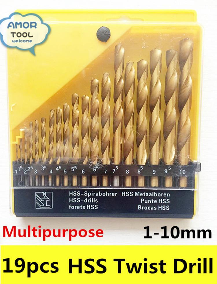 Free shipping 13pcs 1~10 mini twist drill bits  HSS  high speed steel electric drill bits kit wood drilling tools set