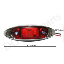 30pcs/lot  LED Trailer Truck LED Side Marker Light Lamps Clearance Light Red/Amber Free Shipping(China (Mainland))