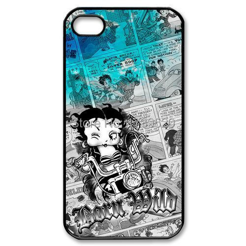 betty boop motorcycle custom TPU protective Mobile Cell Phone Case cover for iphone 4 4s 5 5s 5c 6 plus(China (Mainland))