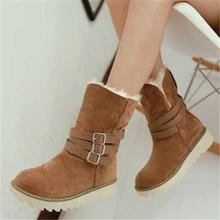 Moda para mujer botines zapatos de invierno 2015 nuevo mujeres de la llegada botas zapatos de la nieve Slip On invierno zapatos de piel 2015(China (Mainland))