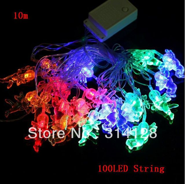 FREE shipping 10m/set 100LED deerlet LED light strings for chistmas day,wedding party