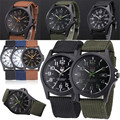 FHD Outdoor Mens Stainless Steel Military Sports Analog Quartz Army Wrist Watch