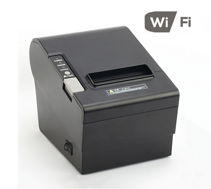 Wireless pos receipt printer 80mm thermal rs-232 usb WIFI pos printer use for restaurant 250mm/s high speed printing(China (Mainland))