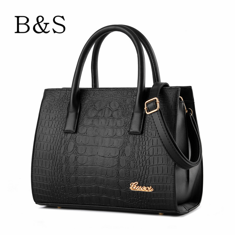 2016 Luxury Leather Classic Crocodile Grain Women Handbags Famous Brand Designer Female Shoulder Cross-body Bags Ladies Hand Bag(China (Mainland))