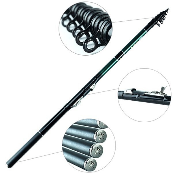 Superhard Hand 98% High Carbon Fishing Rod Surf Sea Fishing Tackle 2.7 3.6m 4.5 5.4M Telescopic Pole Casting Spinning Carp Lure(China (Mainland))