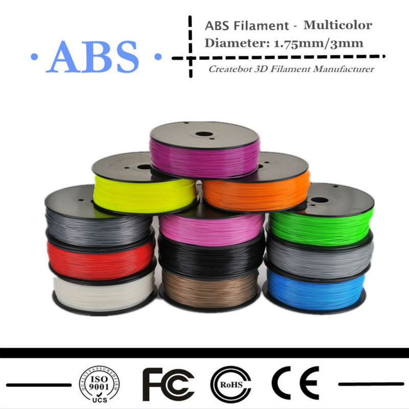 2016 1 75mm ABS Plastic Filament For Createbot Makerbot 3D Printer