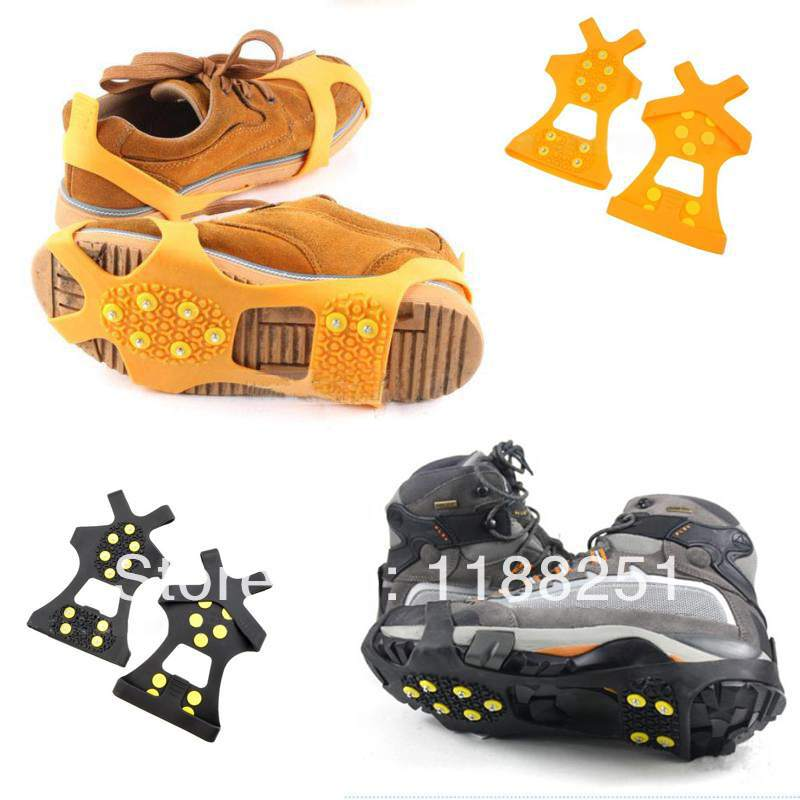 Гаджет  1Pair Free Shipping Nice Ultralight Portable Overshoes Studded Snow Grips Anti-Skid Crampons Cleats qwFUH4 None Обувь