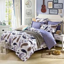 Luxury Bedding set 4pcs queen full double size Bohemia style 100%cotton duvet quilt cover bedsheet pillowcase linen bedcover set(China (Mainland))