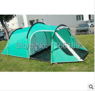 2014 New style 3-4person one bedroom & one living room double layer family and party camping tent(China (Mainland))