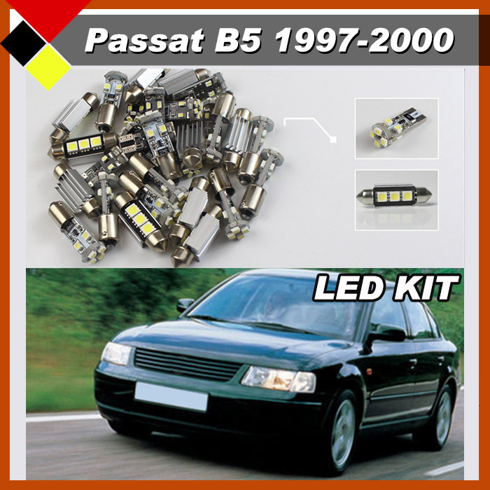 Free Postage Auto LED No Error SMD Car Interior Lamps Kit Package Lights White Plug &amp; Play 15Pcs Fit PASSAT B5 1997-2000<br><br>Aliexpress