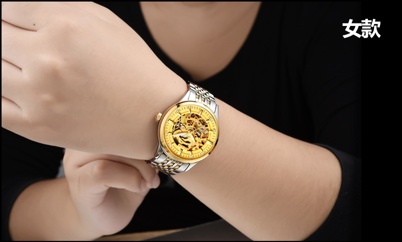AESOP 9005 Switzerland watches men luxury brand skeleton automatic mechanical diamond luminous  brown leather belt