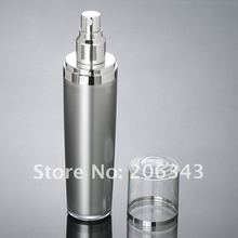 30ML silver press pump lotion bottle