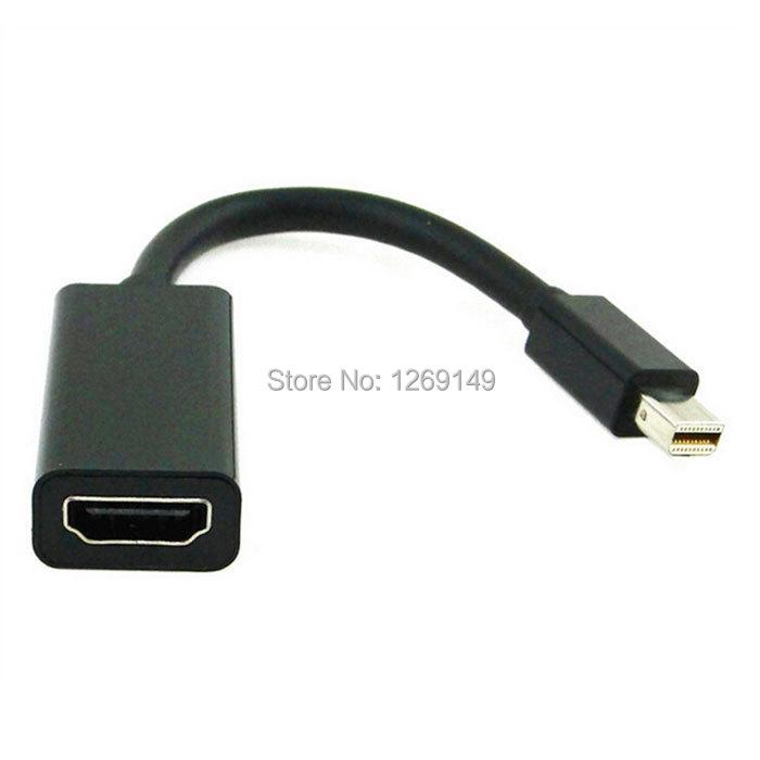 Black Thunderbolt Mini DisplayPort DP to HDMI AV Adapter for Apple Macbook Pro Air Mac PC HDTV AUDIO + Free Shipping(China (Mainland))