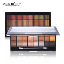 MISS ROSE New 24 Color Eyeshadow Palette Makeup Natural Nude Matte Shimmer Eye Shadow Palette Brand With Brush(China (Mainland))