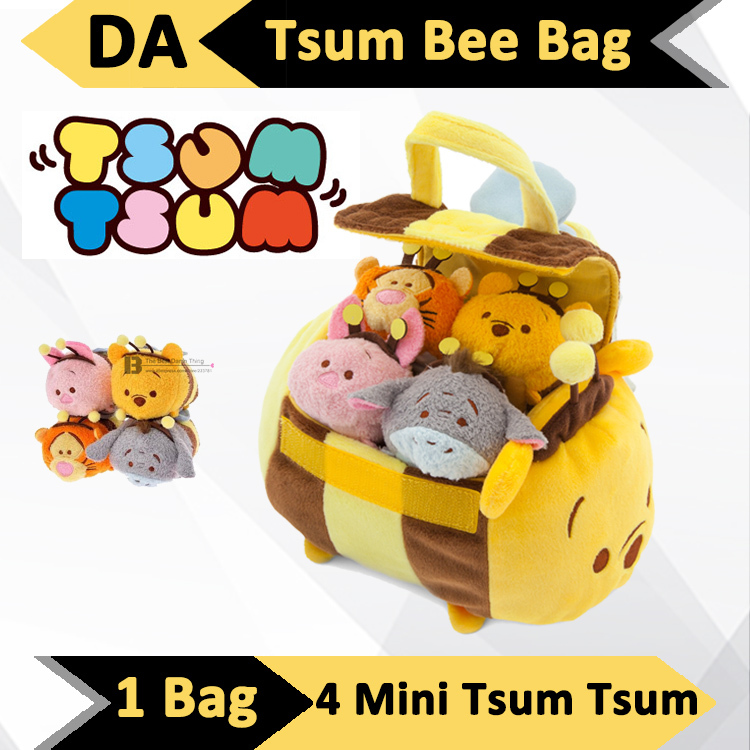 Bumble Bee Bags for Children Kids Baby Plush Toys Tsum Tsum Anime Dolls Set Winnie Medium Bag Case Product Japan Urso de Pelucia(China (Mainland))