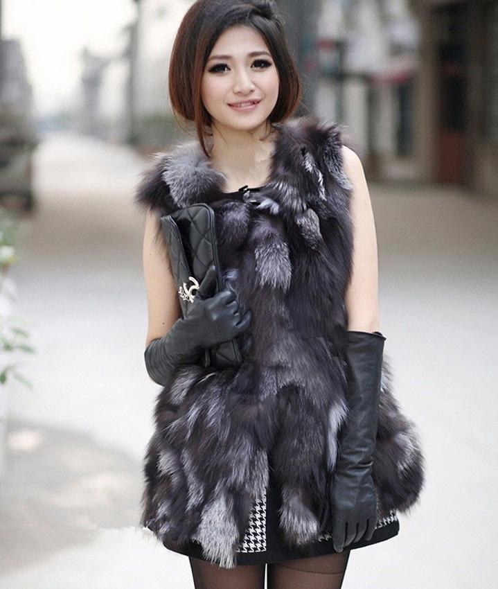 Hot Sales Women Vests Winter High Quality Pieces Of Fox Fur Gilets Female Warm Winter Fur Waistcoat Vest WomenÎäåæäà è àêñåññóàðû<br><br>