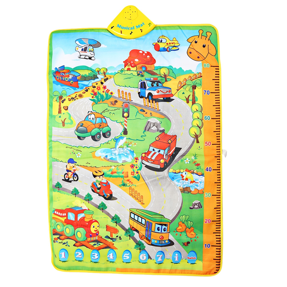 hot selling delicate baby musical cartoon cars language learning toys sound kids childrens playing mat musical carpet