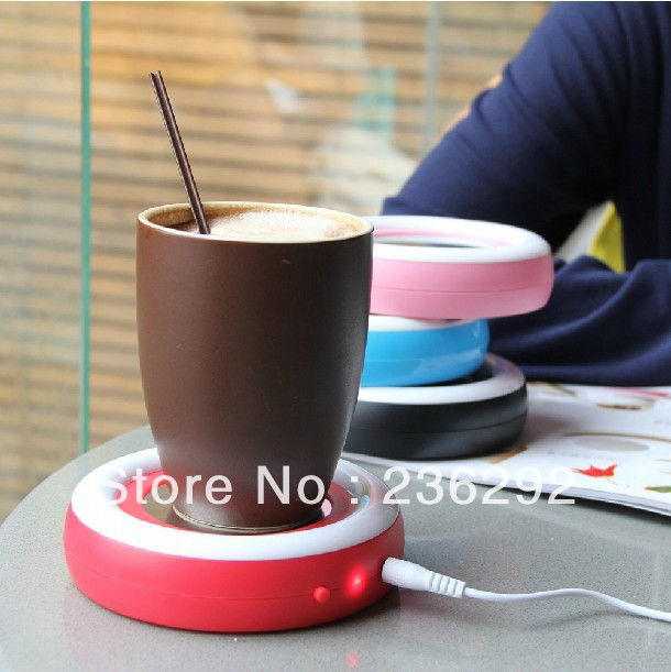Rainbow USB heat preservator Warm milk-electric power A dish to keep and stay the cup water warm in winter(China (Mainland))