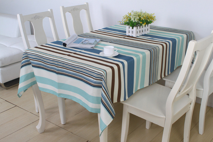 (135x185cm )New Arrival Printed Table cloth Polyester waterproof Table cloth Strip tablecloth(China (Mainland))