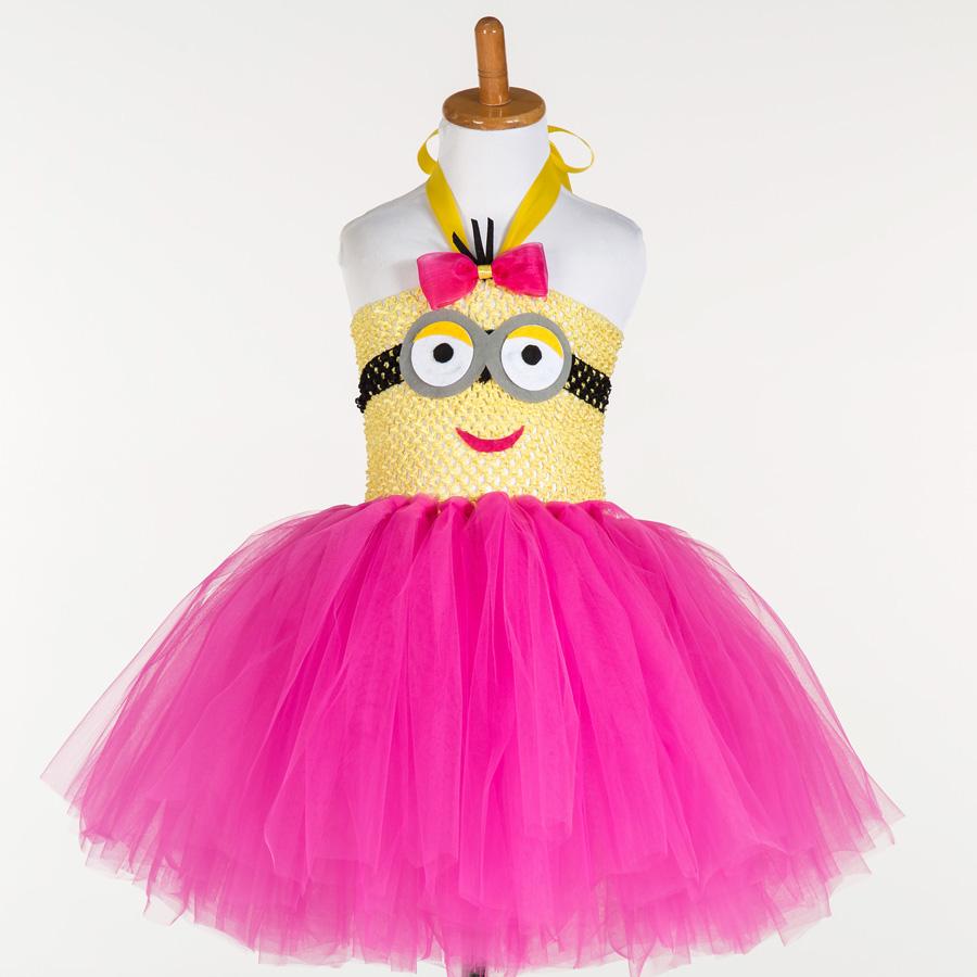 Гаджет  Girls MINION Dress Despicable Me Inspired Minion Tutu Dress Halloween Girl Tutu Tulle Dress None Детские товары