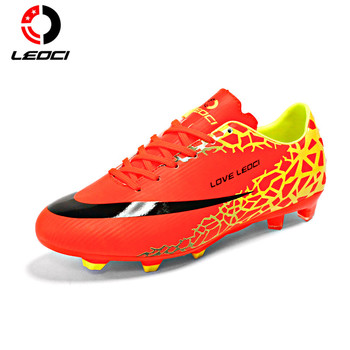 LEOCI Anti-Collision Training Shoes FG Football Shoes Boots Outdoor Lawn Soccer Boots for Men/Women/Children Size 33-44
