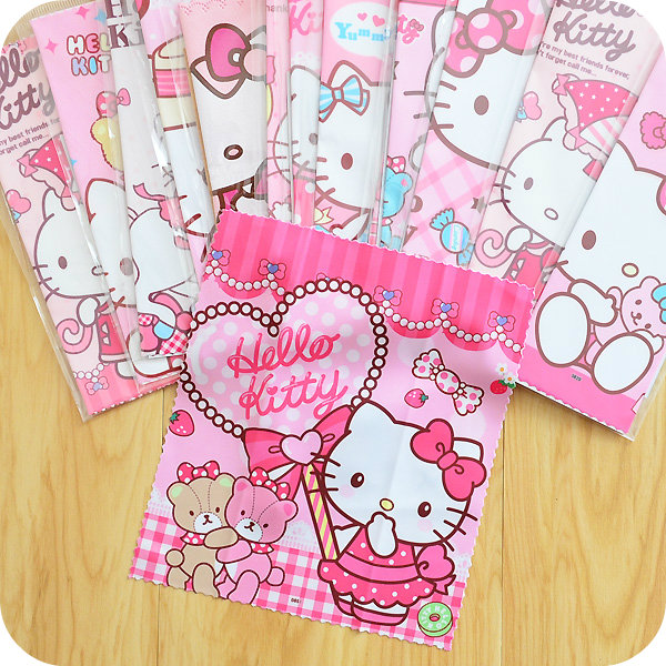 Cute Hello Kitty Portable Glasses Cleaner Cloth.Fabric Mobile Phone Camera Wipes Computer Lcd Monitor Ipad Cleaning Cloth Laptop(China (Mainland))