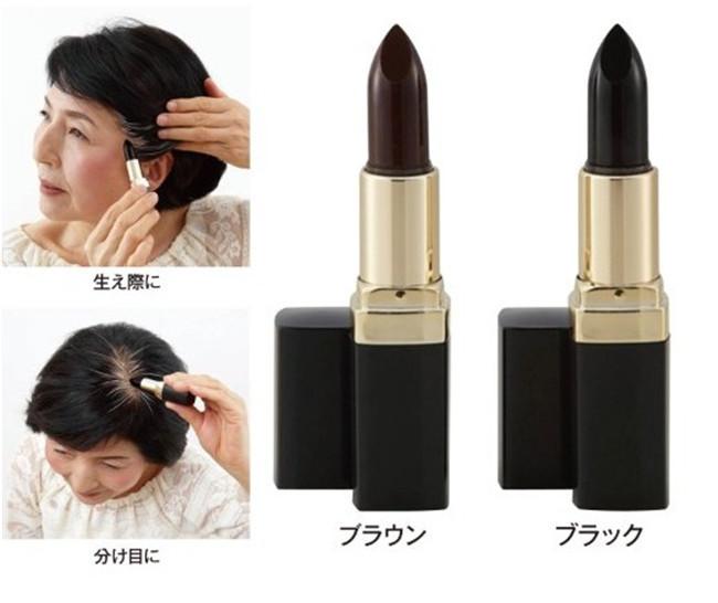 1 stuks gratis verzending bruine te dekken witte haarcrème pastel krijt polish nieuwe snelle tijdelijke haarverf kleur(China (Mainland))